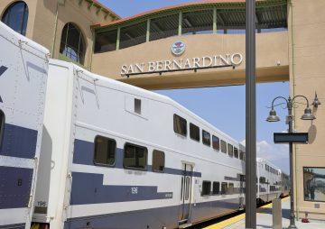 Metrolink Train at Santa Fe station, San Bernardino County, California